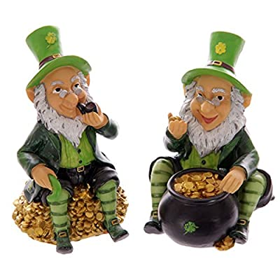 Puckator LEPR09 Lucky Leprechaun Money Box, 9.5 x 11 x 15 cm