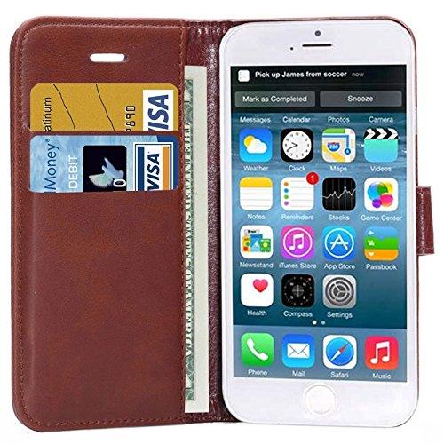Crazy Horse Texture Horizontale Flip Stand PU Ledertasche mit Card Slots und Halter für iPhone 6 & 6S by diebelleu ( Color : Brown ) Brown