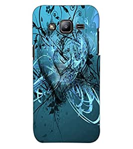 ColourCraft Love Heart Design Back Case Cover for SAMSUNG GALAXY J2 DUOS