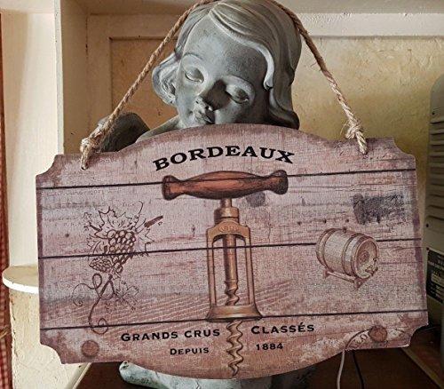 Antic Line Panneau Grands Crus de Bordeaux 26 * 39 cm