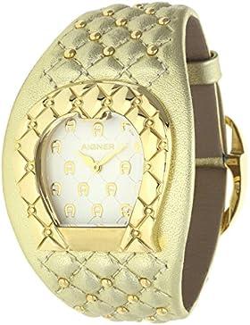 Orig. AIGNER Damenuhr Uhr A41204 LEDER gold Perlen UVP:599,-? NEU 8454