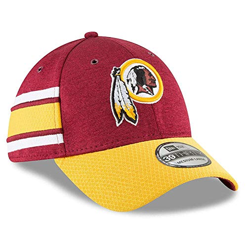 New Era NFL Washington Redskins Authentic 2018 Sideline 39THIRTY Stretch Fit Home Cap, Größe :S/M