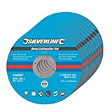 Silverline 447131 Metal Cutting Discs Flat, 115 x 3 x 22.2 mm - Pack of 10