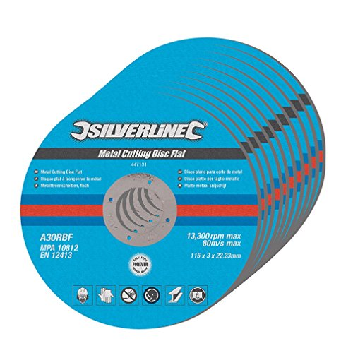 silverline-447131-metal-cutting-discs-flat-115-x-3-x-222-mm-pack-of-10