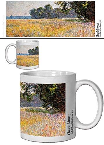 1art1 Set: Claude Monet, Haferfeld Mit Mohnblumen, 1890 Foto-Tasse Kaffeetasse (9x8 cm) Inklusive 1x...