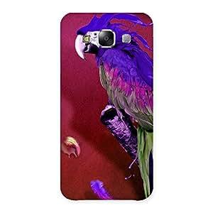 Impressive Magic Parrot Multicolor Back Case Cover for Samsung Galaxy E5