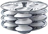Stainless Steel 4 Rack Idli Stand, Idli Maker - Makes 16 Idlis