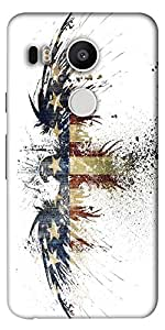 Snoogg Eagle With American Flag Designer Protective Back Case Cover For Lg Go...
