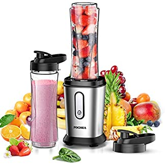 FOCHEA-Mixer-Smoothie-Maker-500W-Mini-Standmixer-Smoothie-Mixer-Multifunktion-Smoothiemaker-mit-Tritan-2-600ml-Travel-Sportflaschen-BPA-Free-fr-Shakes-und-Smoothies