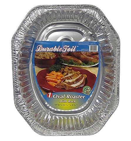 Durable Foil Oval Aluminum Roasting Pan, X-Large, 18-1/2