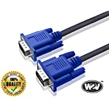 World2view 15 Pin Male To Male 1.5 Meter VGA Cable For Computer Monitors, Televisions,Desktop, Laptop, Projector