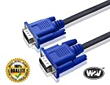 #4: World2view 15 Pin Male To Male 1.5 Meter VGA Cable For Computer Monitors, Televisions,Desktop, Laptop, Projector