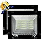 Ascension IP66 200W 240V Ultra Thin LED Outdoor Flood Light SMD Bulb 50,000