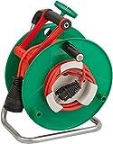 Brennenstuhl Garant Bretec-290R Gartenkabeltrommel (50m - Spezialkunststoff, kurzfristiger Einsatz im Außenbereich, Made In Germany) grün
