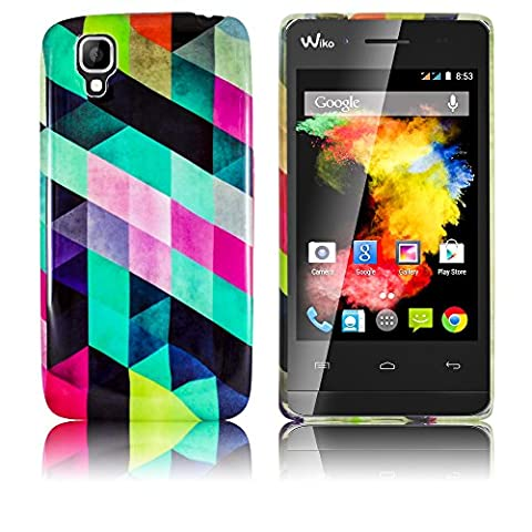 Coque De Wiko Goa - Wiko GOA Etui en silicone COLORFUL CHECKERED