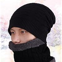 sheng Chapeau de laine d'hiver de chapeau coréen chaud coiffure extérieure plus épais tricot chapeau d'étudiant noir