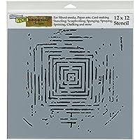 Crafters Workshop-Stencil, in plastica, 30 x 30 cm, motivo: Labirinto