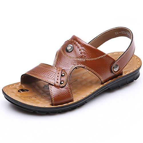 SU@DA Mâle/plage/sandales / / cuir/respirant/pantoufles neuves yellow brown