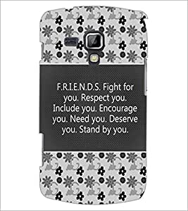 PrintDhaba Quote D-4182 Back Case Cover for SAMSUNG GALAXY S DUOS 2 S7582 (Multi-Coloured)
