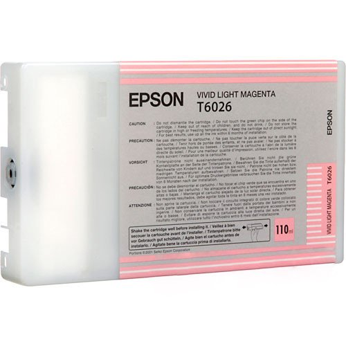 Epson T6026 Cartouche d'encre d'origine Vivid Magenta Clair (110Ml)