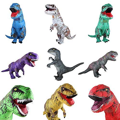 Air Dancer T-Rex aufblasbare Dinosaurier-Maskottchen-Partei-Kostüm-Abendkleid Cosplay Outfit ()