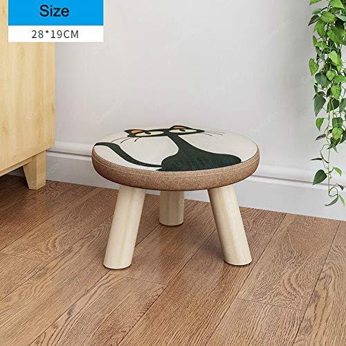 Küche Holz-finish Stuhl (KLFJDKL Stool Runde Quadratische Stoff Holz Hocker Stuhl Für Kinder Kleine Hocker Wechsel Schuhe Sofa Ottoman Kinder Möbel Schlafzimmer Holz Bank l)