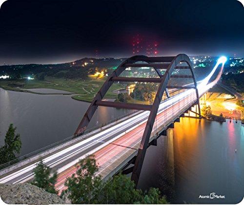 Pennybacker Bridge Austin Texas AT NIGHT Dick Mousepad von Atomic Markt