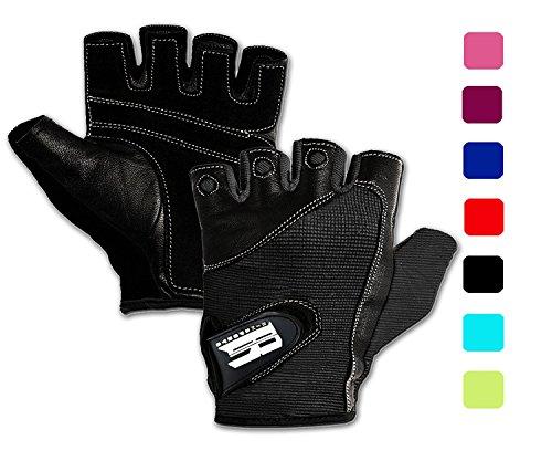 Gewichthebe-Handschuhe fürs Fitnessstudio, Unisex, ideal zum Rudern, für Training, Crossfit, stützend, griffig, hochwertig XL schwarz