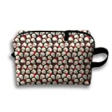 Skull Sequence Pattern Magic Makeup Bag Lazy Cosmetic Bag Portanle Travel Handbag