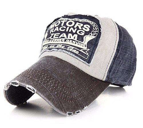 Vintage Cap (Unisex Baumwolle Baseball Cap Star Sport Mütze Baseballkappe Snap back Trucker (Nave Brown peak) MFAZ Morefaz Ltd)
