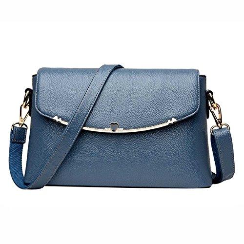 Mode Schultertasche Mutterbeutel Kuriertasche Lederhandtasche Der Frauen Blue