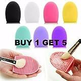 Q4U 5x strumento per pennello cosmetici cosmetici makeup pennelli scrubber Board Washing silicone trucco spazzola pulizia lavatrice