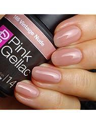 Pink Gellac 166 Vintage Nude UV Nagellack. Professionelle Gel Nagellack shellac für mindestens 14 Tage perfekt glänzende Nägel