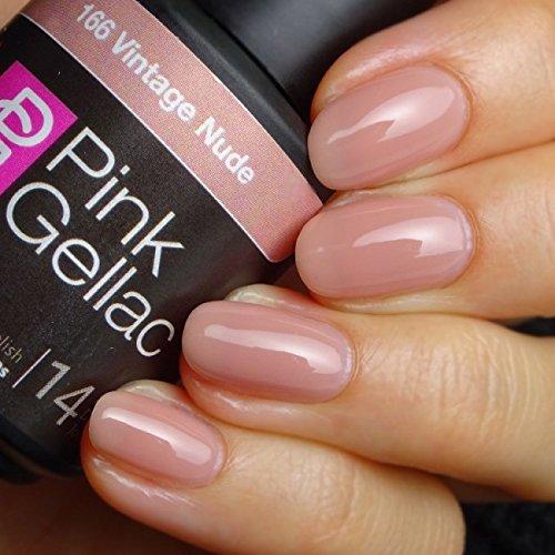 Pink Gellac 166 Vintage Nude UV Nagellack. Professionelle Gel Nagellack shellac für mindestens 14...