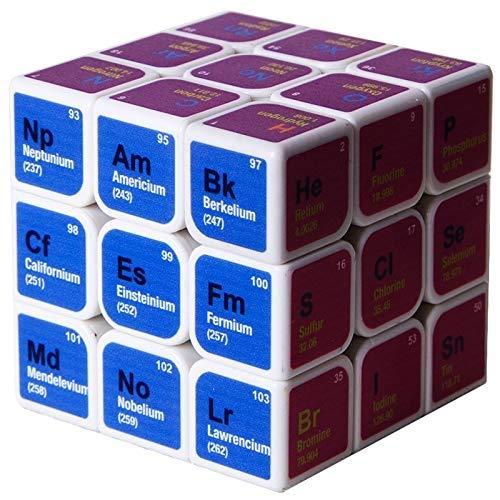 Lernspielzeug Für Kinder, Geschenkpuzzle-Wettbewerb, Rubik's Cube Dritter Ordnung, Hilfsmittel Für Die Chemie-Erwachsenenbildung, Ideal Für Die Ausbildung Im Büro Der Schule Zu Hause (Color : White)