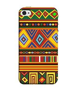 PrintVisa Aztec Pattern Art Print 3D Hard Polycarbonate Designer Back Case Cover for Apple iPhone 5
