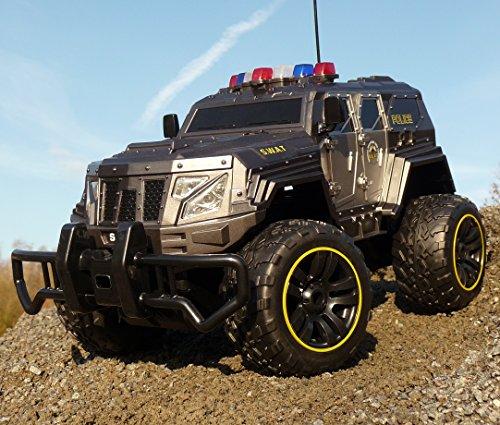 ferngesteuerte polizeiautos RC Jeep SWAT POLICE mit LICHT & AKKU 1:12 Länge 39cm Ferngesteuert 27MHz