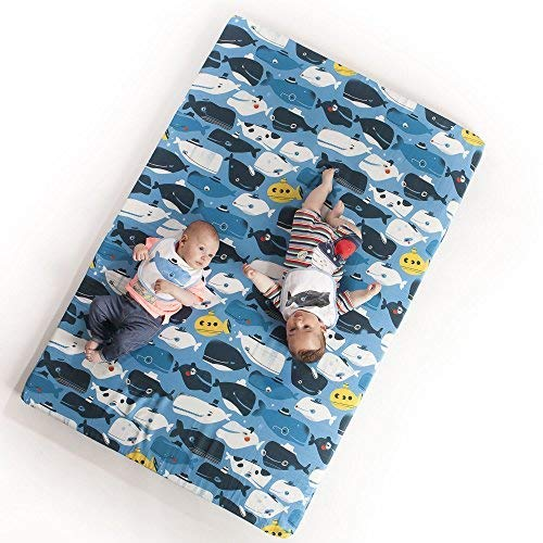 Manta de juegos para bebés acolchada plegable enrollable gimnasio suelo actividades alfombra...