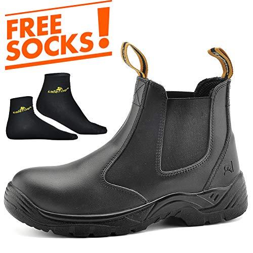 Safetoe scarpe antinfortunistica alte slip-on - 8025 scarpe da lavoro uomo donna facile da indossare