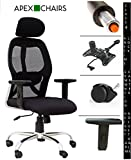 #2: APEX Chairs Apollo Chrome Base HIGH Back Office Chair Adjustable ARMS