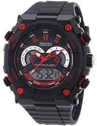 Nautec No Limit Herren-Armbanduhr XL Speedway AD Analog - Digital Quarz Plastik SW QZ-AD/PCBKPCBKBK-RD