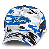 Ford Logo Camo Ice Baseball Cap Hat by Ford CarBeyondStore