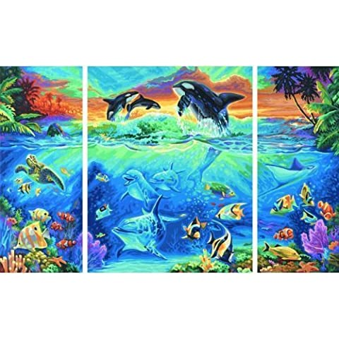 Schipper 60 926 0531 - Painting By Number - At the coral reef (Triptych) by Noris