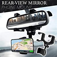 LXCN® Anti Shake & Fall Prevention 360 Degree Rotation Adjustable Anti Vibration Car Phone Holder for Rear View Mirror…