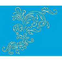 21cm x 17cm Stencil di Plastica per Decorazione Parete Muro Tessuto Maglietta Aerografo Progettazione Disegno Grafica Farfalla
