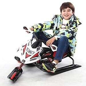 Schnee Racer, Kinderschi Spielzeug, Motorrad-Typ-Ski mit Lenkrad und Bremsen für Kinder und Erwachsene mehr als 6 Jahre alt