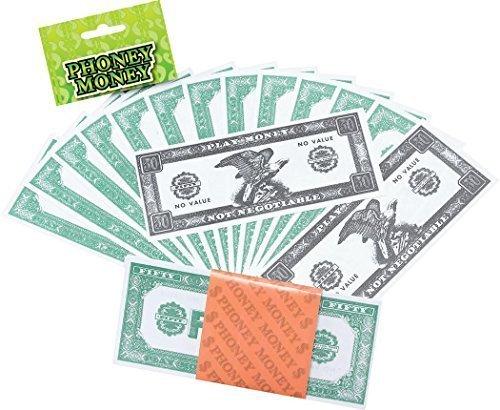 Rollen Gangster Spiel Schwindler Dollar PAPIER GELD (Halloween-papier-spiele)