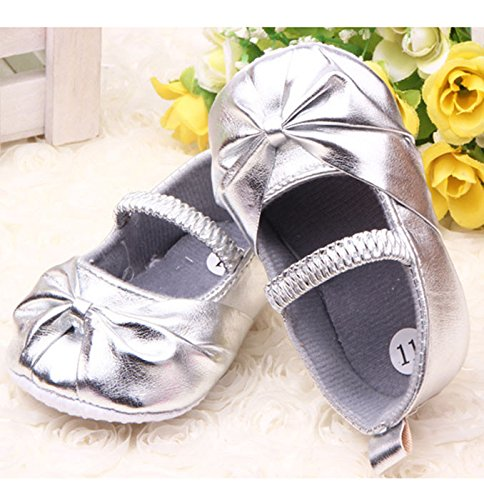 Pikaboo Silver Ballerina Baby Shoes Girls Shoes Prewalker First Walker Baby Shoes
