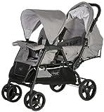 Hoco SPL13-161-00004 Komfortabler und robuster Geschwisterwagen Slime, hell grau