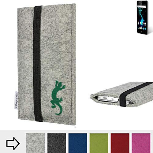 flat.design Handy Hülle Coimbra für Allview P6 Pro handgefertigte Handytasche Filz Tasche Case fair Gecko